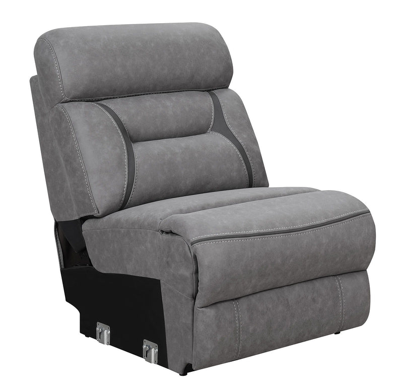 Higgins Motion Collection - Grey - Camargue Grey Reclining Power Sectional