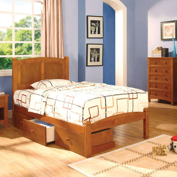 Cara - Twin Bed - Oak