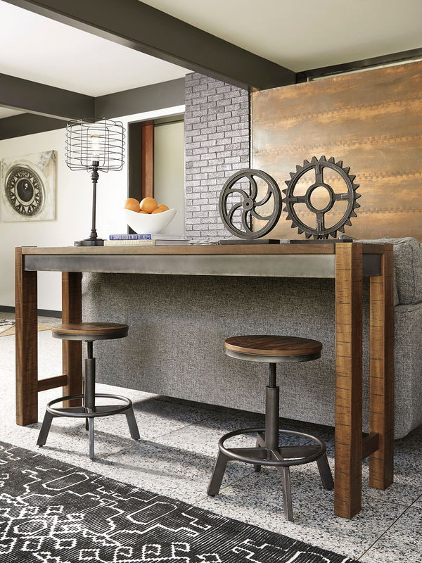 Torjin - Brown/Gray - 3 Pc. - Long Counter Table & 2 Stools