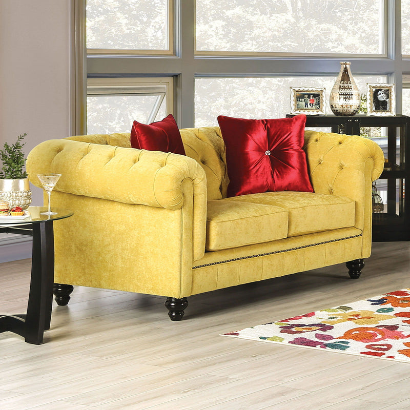 Eliza - Loveseat - Royal Yellow