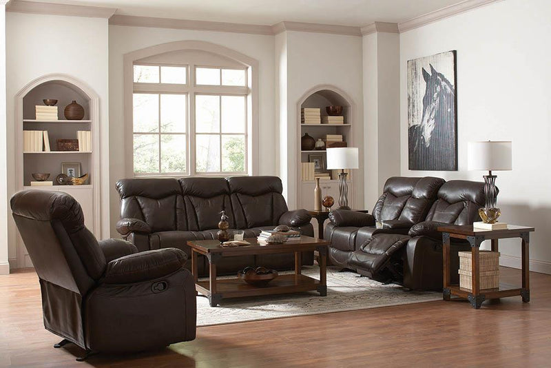 Zimmerman Motion Collection - Dark Brown - Zimmerman Pillow Top Arm Motion Sofa Dark Brown