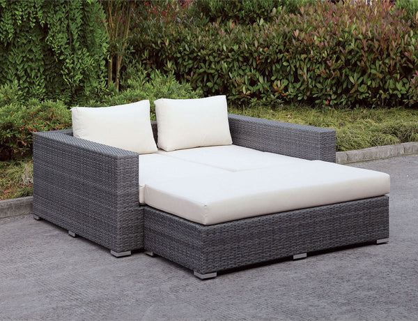 Somani - Daybed - Light Gray Wicker