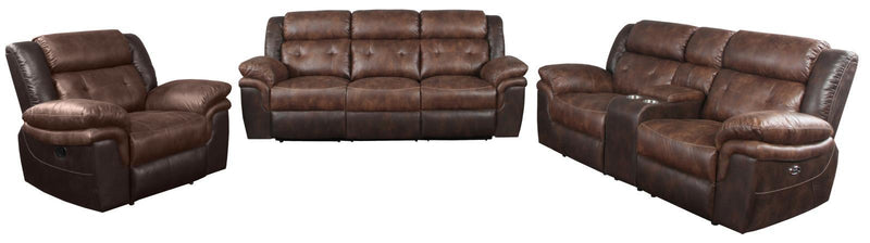 Chocolate / Brown - Saybrook Tufted Cushion Motion Sofa Chocolate And Dark Brown