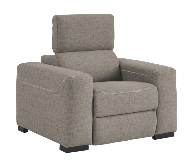 Mabton - Gray - PWR Recliner/ADJ Headrest
