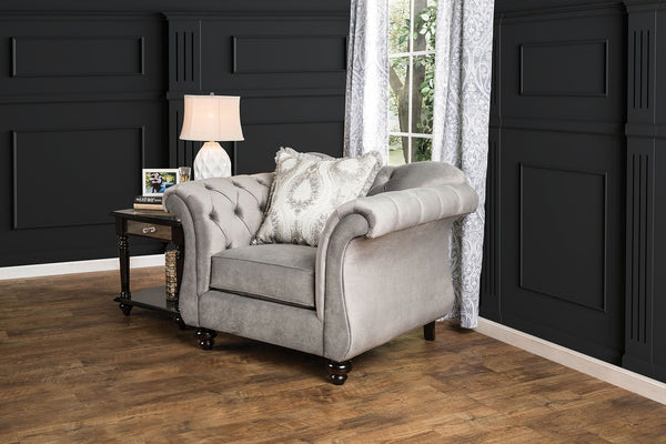 Antoinette - Chair - Dolphin Gray