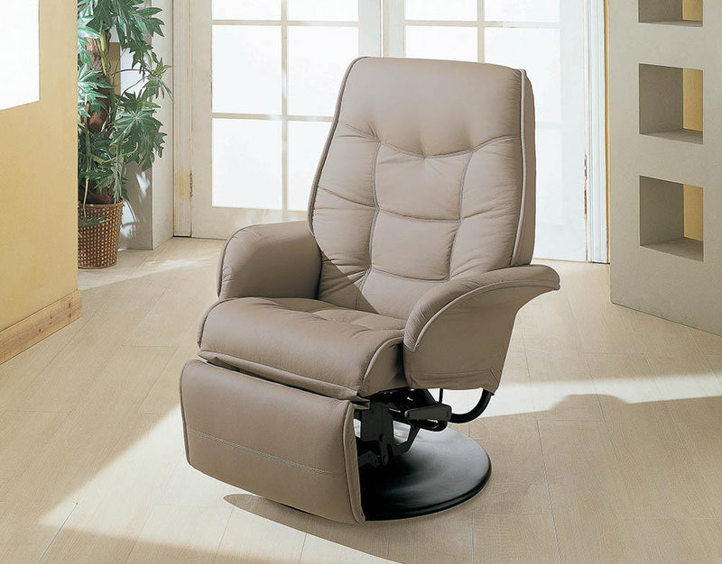 Living Room : Recliners - Beige - Swivel Recliner With Flared Arm Beige