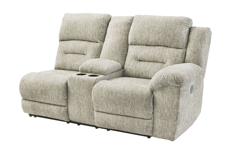 Family Den - Pewter - RAF DBL REC PWR CON Loveseat