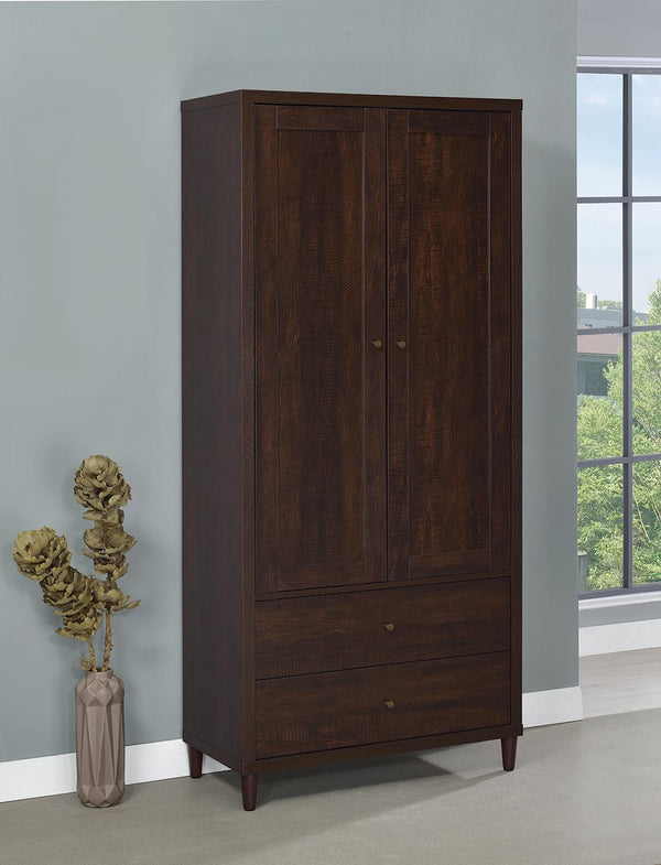 2-door Tall Accent Cabinet Rustic Tobacco