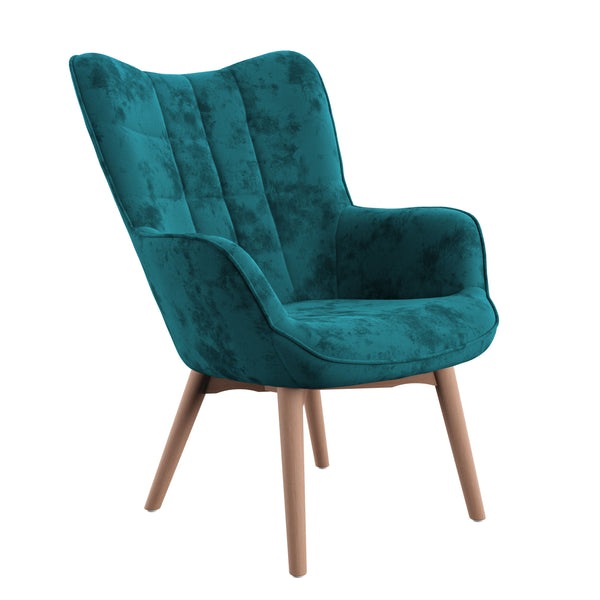 Margo Accent Chair, Turquoise