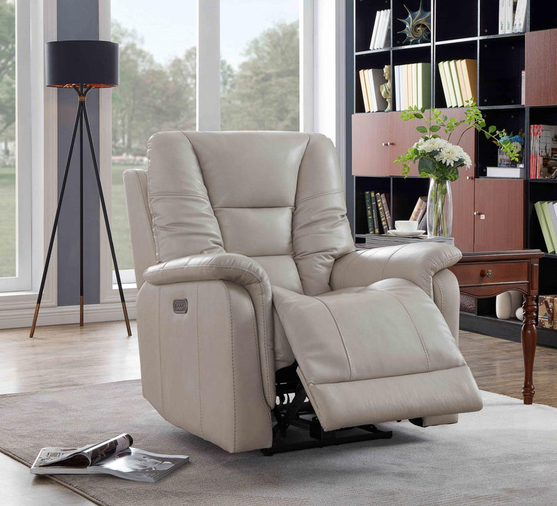 Living Room : Power Recliner - Cream - Pillow Top Arms Power^3 Recliner Cream