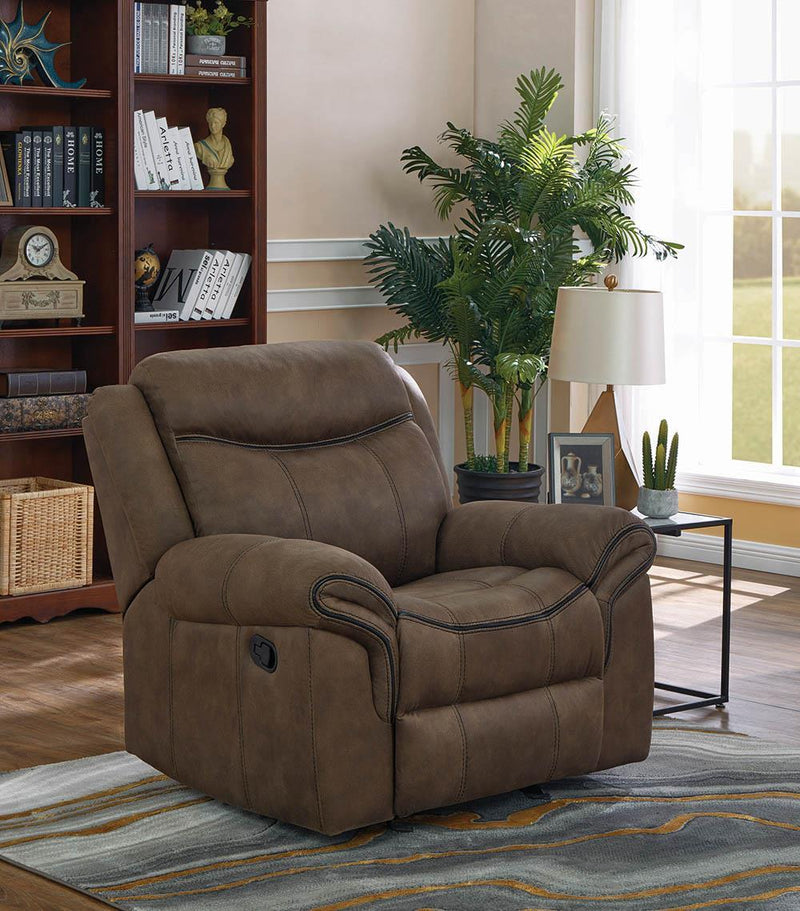Sawyer Motion Collection - Macchiato - Sawyer Upholstered Glider Recliner Macchiato
