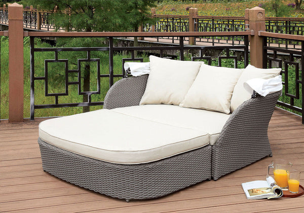 Aida - 2 Pc. Patio Daybed - Gray
