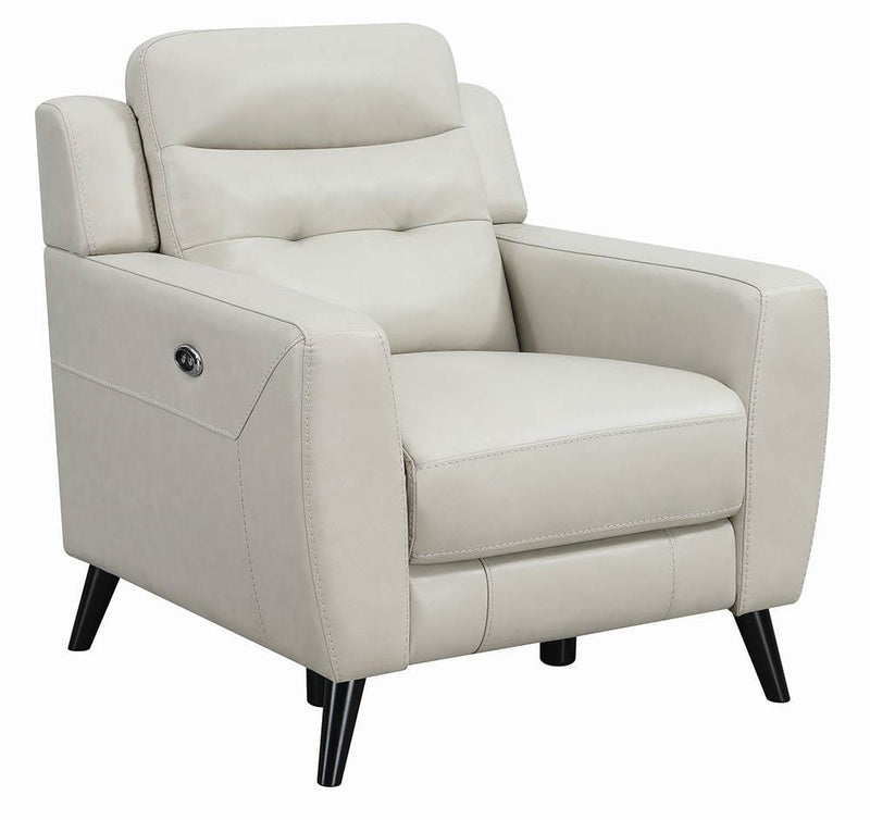 Lantana Motion Collection - Beige - Lantana Upholstered Power Recliner Beige