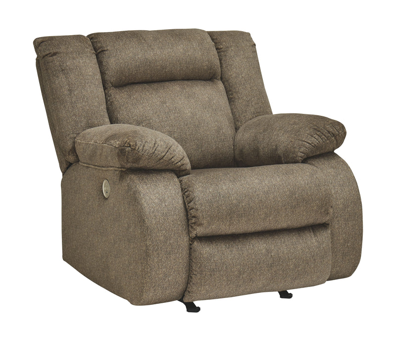 Burkner - Mocha - Power Rocker Recliner