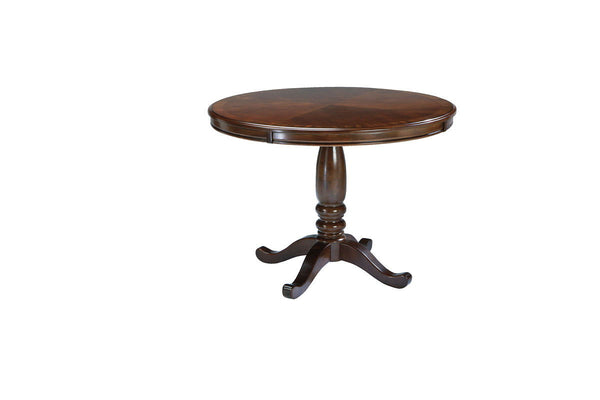 Leahlyn - Medium Brown - Round Dining Room Table Base