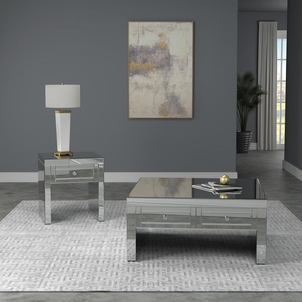 Square Coffee Table Silver