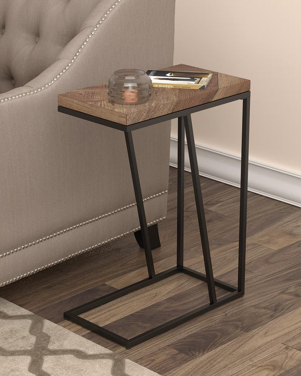 Chevron Rectangular Accent Table Tobacco