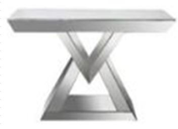 Contemporary Mirrored Console Table Box Two Base