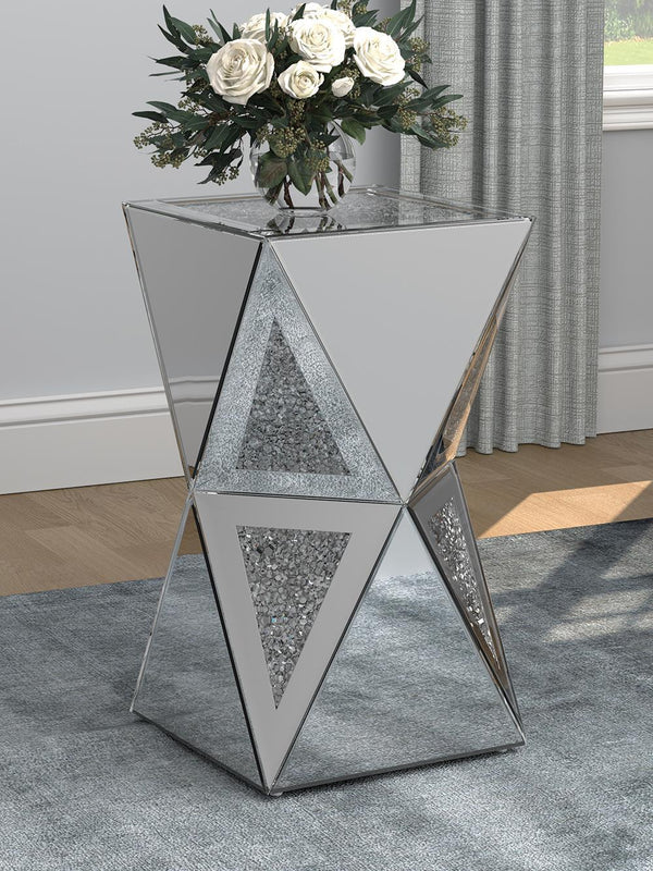 Geometric Side Table Silver