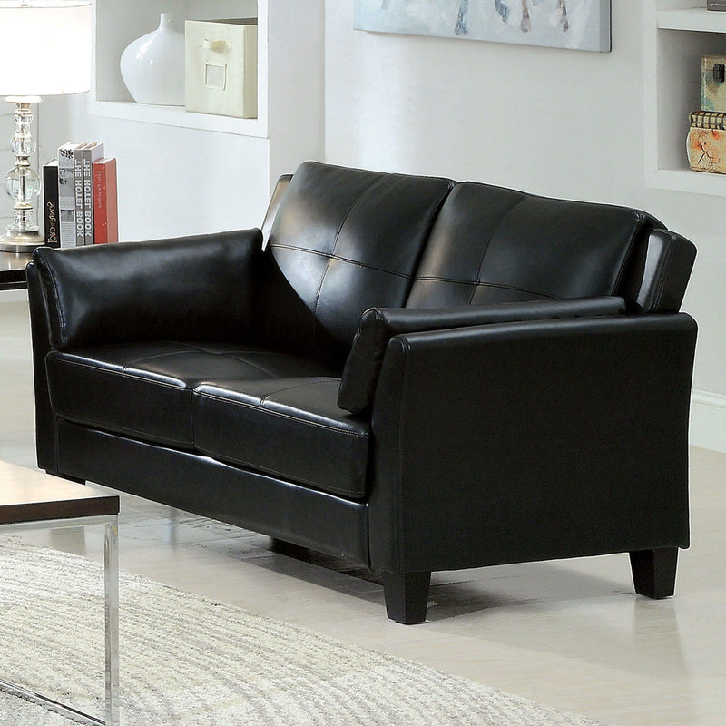 Pierre - Loveseat - Black