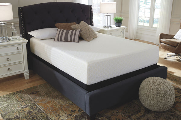 Chime 12 Inch Memory Foam - White - California King Mattress & Foundation (2 RQD)