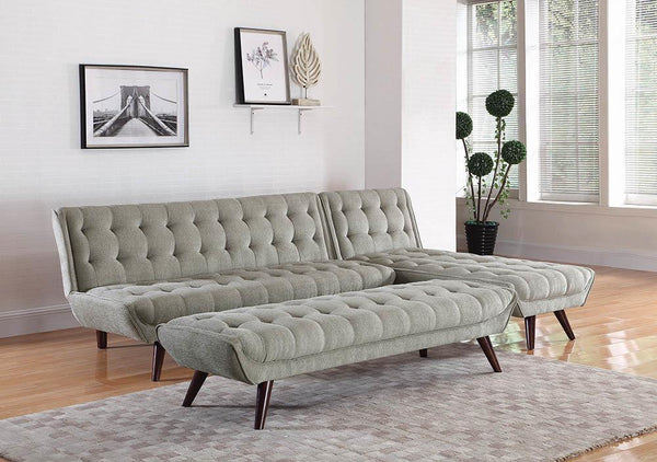 Dove Grey - Natalia Tufted Sofa Bed Dove Grey