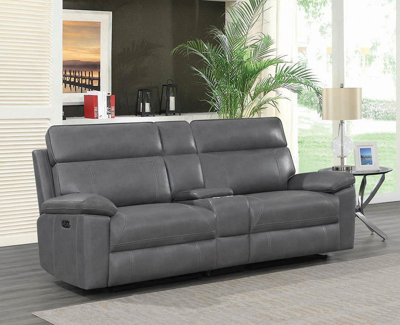 Albany Motion Collection - Grey - 3 Pc Power2 Loveseat
