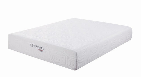 "Ian 12"" Mattress - White - Ian Eastern King Memory Foam Mattress White"