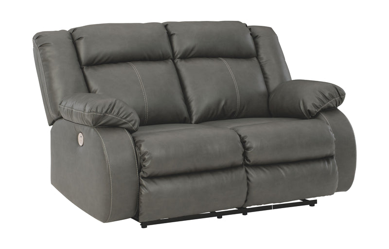 Denoron - Gray - Reclining Power Loveseat