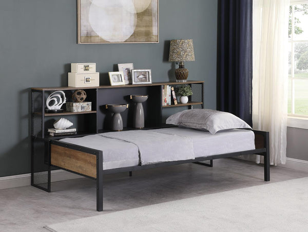 Corbin Daybed - Corbin Twin Storage Daybed Matte Black And Chestnut