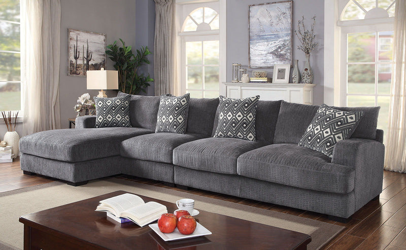 Kaylee - Large L-Shaped Sectional - Gray