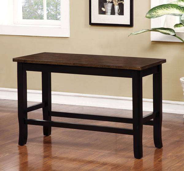 Dover II - Counter Ht. Bench - Black