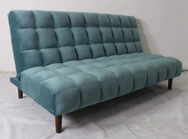 Teal - Cullen Biscuit Tufted Upholstered Sofa Bed Teal