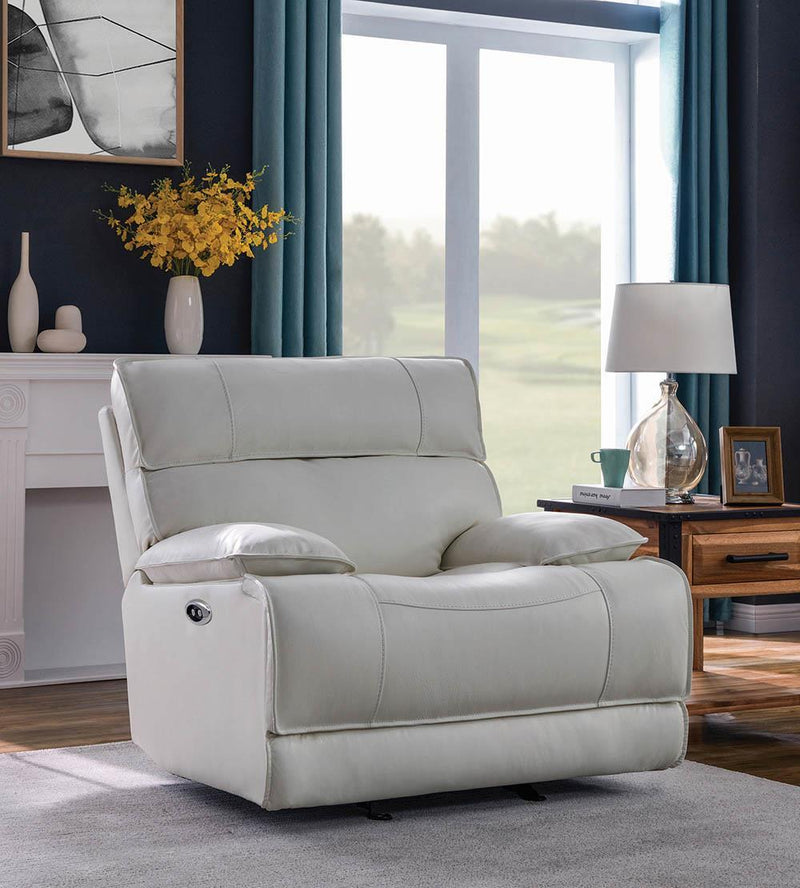 Stanford Motion Collection - White - Power Glider Recliner