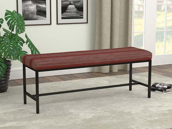 Red - Striped Bench Gunmetal And Red