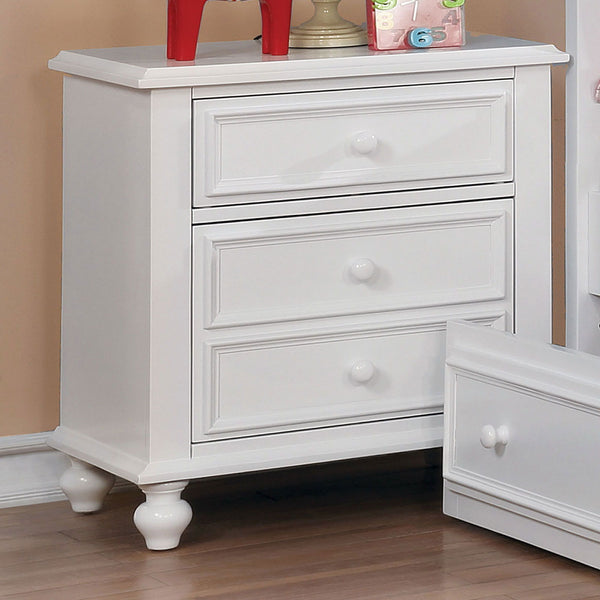 Olivia - Night Stand - White