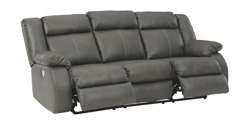 Denoron - Gray - Reclining Power Sofa