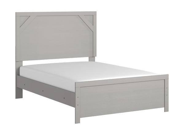 Cottenburg - Light Gray/White - Full Panel Headboard/Footboard