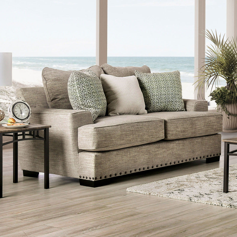 Maureen - Loveseat - Taupe
