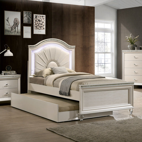 Allie - Twin Bed - Pearl White