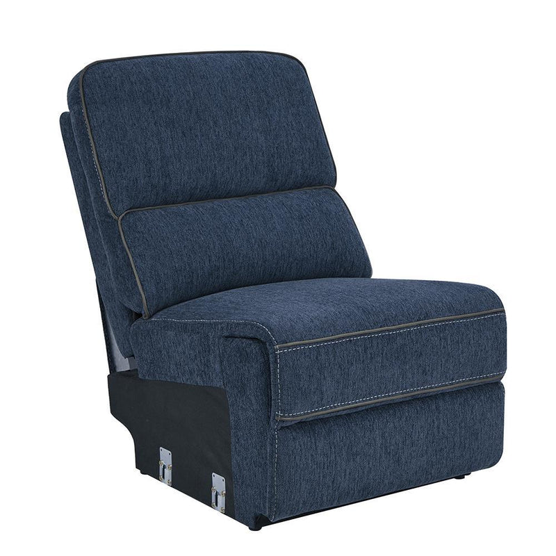 Dundee Motion Collection - Navy Blue - Armless Chair