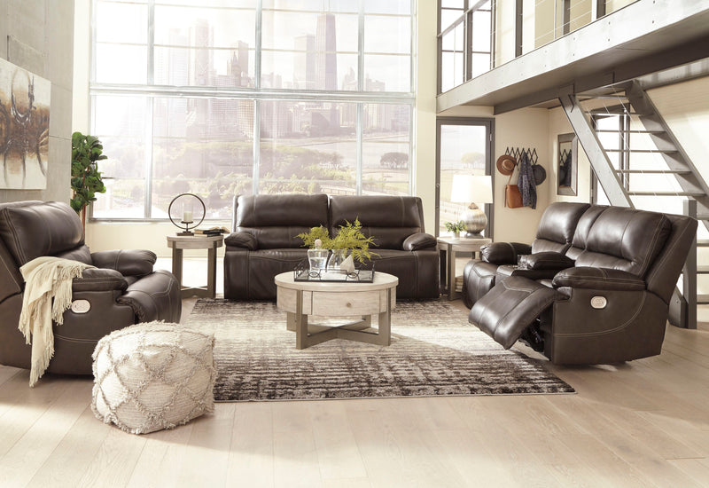 Ricmen - Walnut - 2 Seat PWR REC Sofa ADJ HDRST, PWR REC Loveseat with ADJ HDRST & Wide Seat Power Recliner