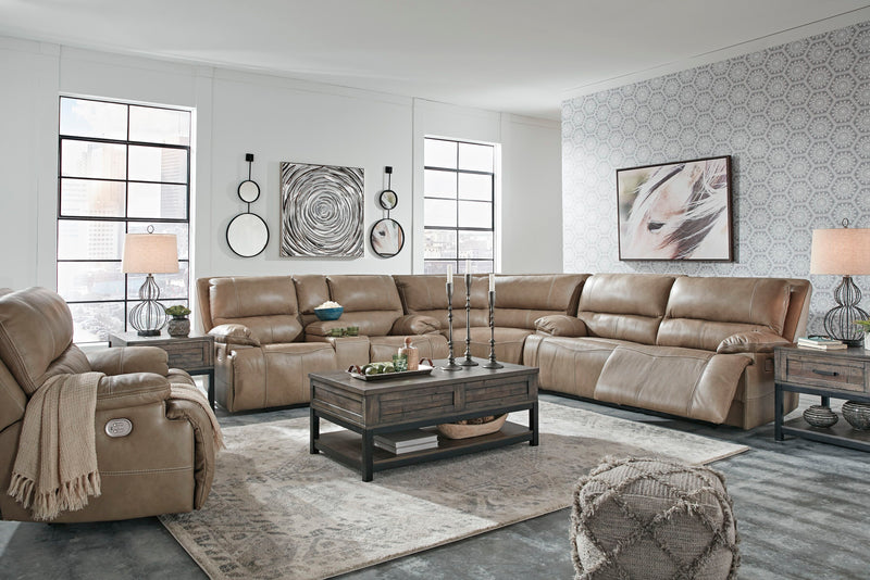 Ricmen - Putty - 2 Seat PWR REC Sofa ADJ HDRST, Wedge, PWR REC Loveseat with CON/ADJ HDRST Sectional & Wide Seat PWR Recliner