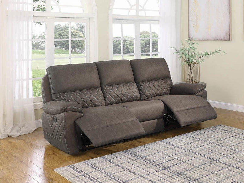 Variel Motion Collection - Taupe - 3 Pc Motion Sofa