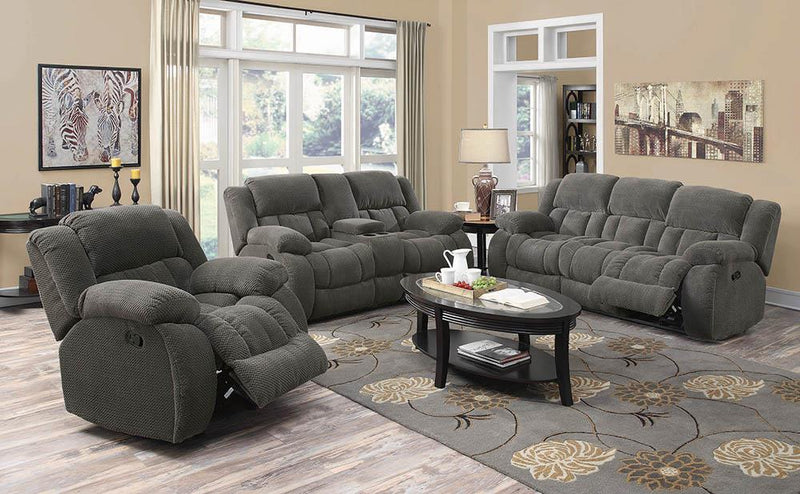 Weissman Motion Collection - Charcoal - Weissman Motion Loveseat With Console Charcoal