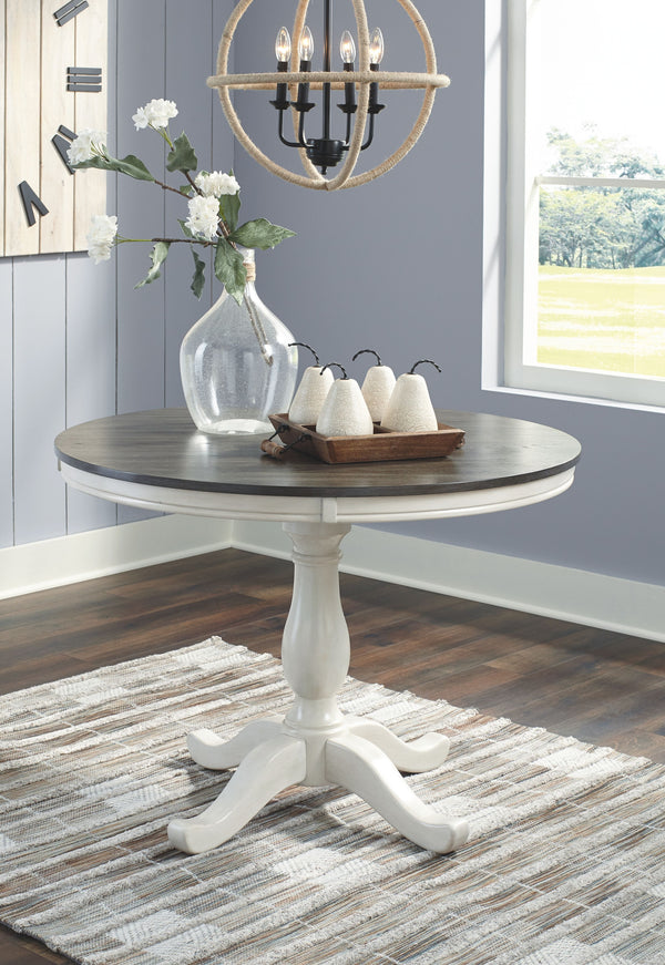 Nelling - Two-tone - Round Dining Room Table