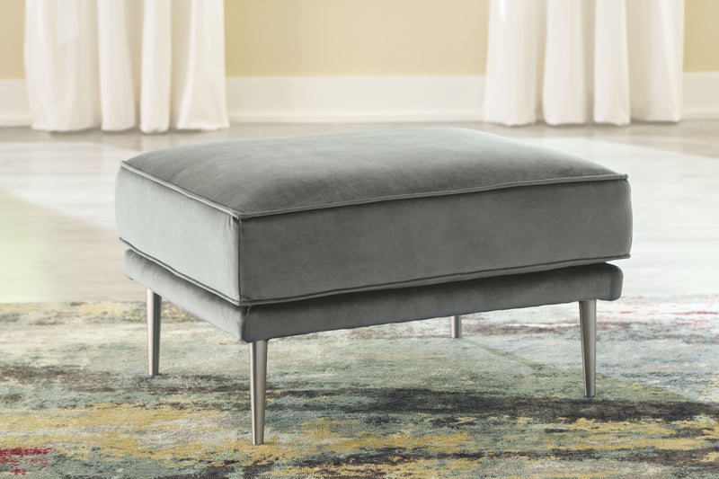 Macleary - Steel - Ottoman