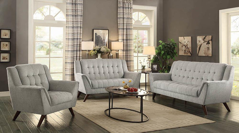 Baby Natalia Collection - Dove Grey - Natalia Upholstered Loveseat Dove Grey