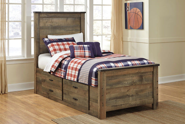 Trinell - Brown - Twin Storage Bed