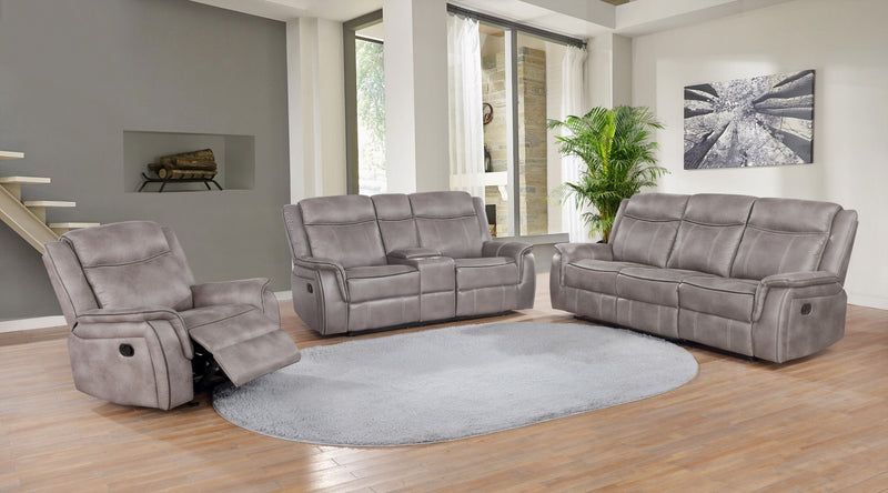 Taupe - Motion Loveseat W/ Console